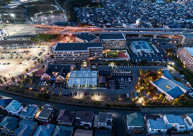 FUKUOKA EFFECT.Florist 南側俯瞰夜景